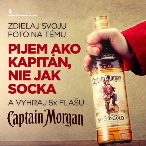 Pijem ako kapitán, nie jak socka! Zdieľaj svoju fotku na túto tému na instagrame a vyhraj 5x fľašu Captain Morgan