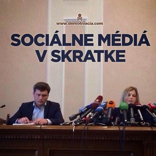 Sociálne médiá v skratke