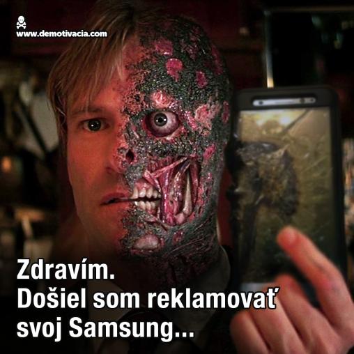 Zdravím, došiel som reklamovať svoj Samsung