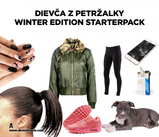 Dievča z Petržalky starterpack - winter edition