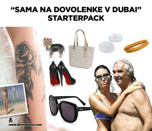 Sama na dovolenke v Dubai starterpack