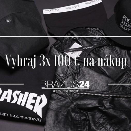 súťaž s Brands24 o 3 x 100€ na nákup v online shop-e