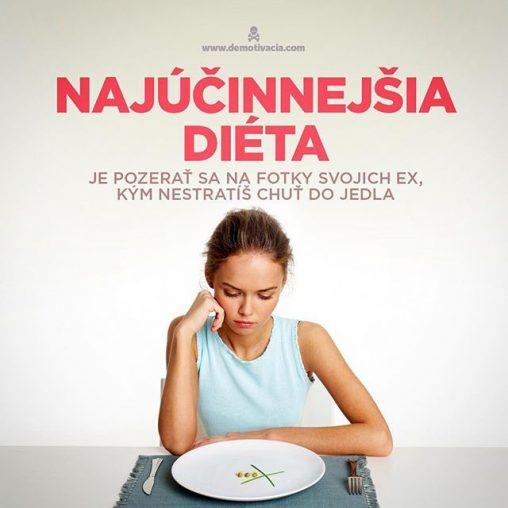 Najúčinnejšia diéta je pozerať sa na fotky svojich ex, kým ťa neprejde chuť do jedla