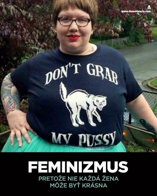 Feminizmus. Pretože nie každá žena môže byť krásna.
